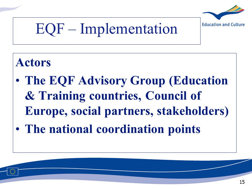 EQF – Implementation Actors