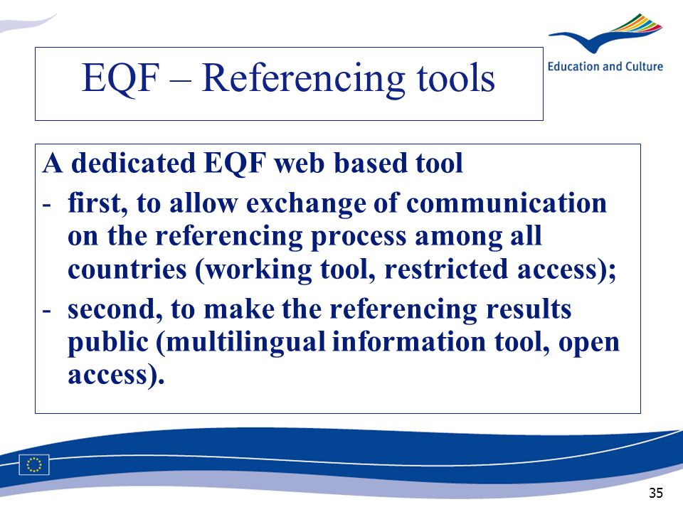EQF – Referencing tools