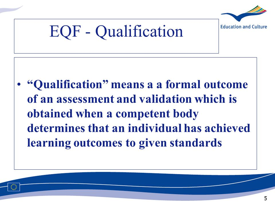 EQF - Qualification
