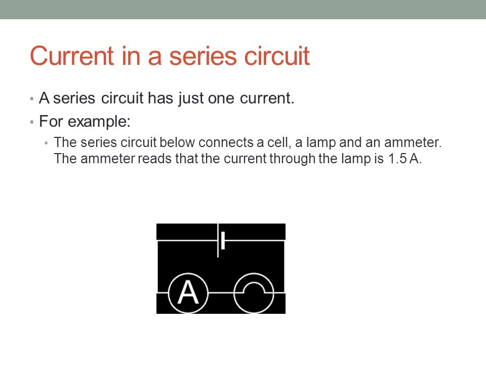 how to find current in a series circuit