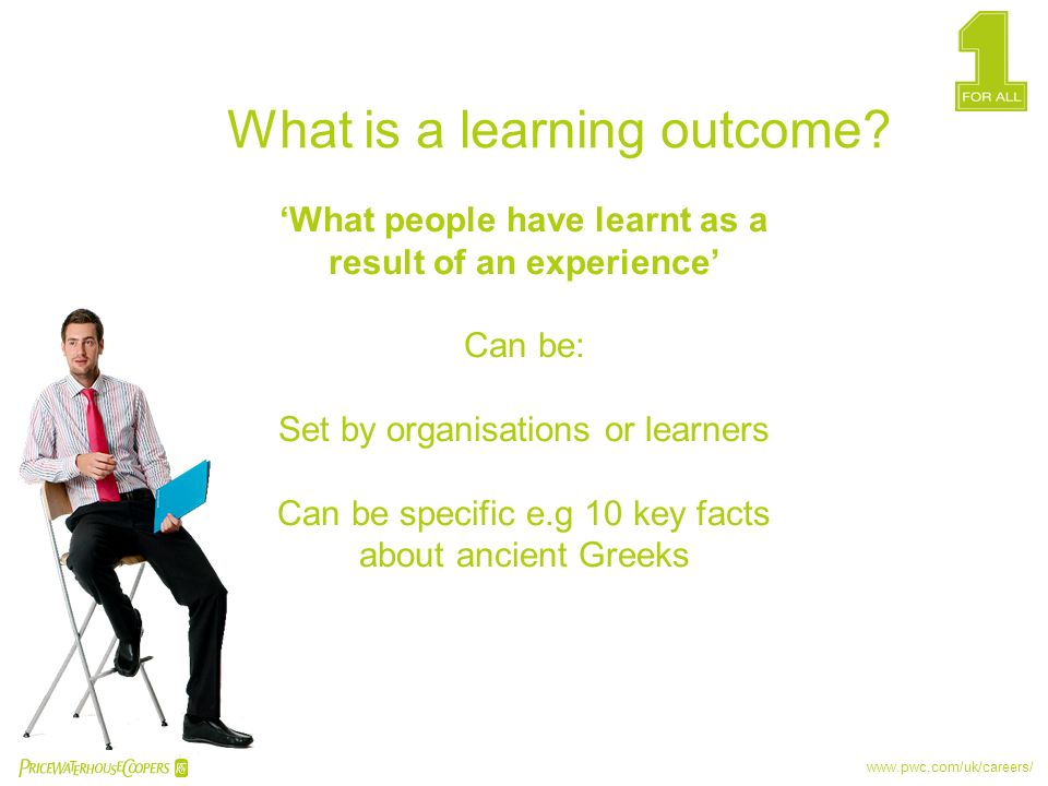 'What people have learnt as a result of an experience'