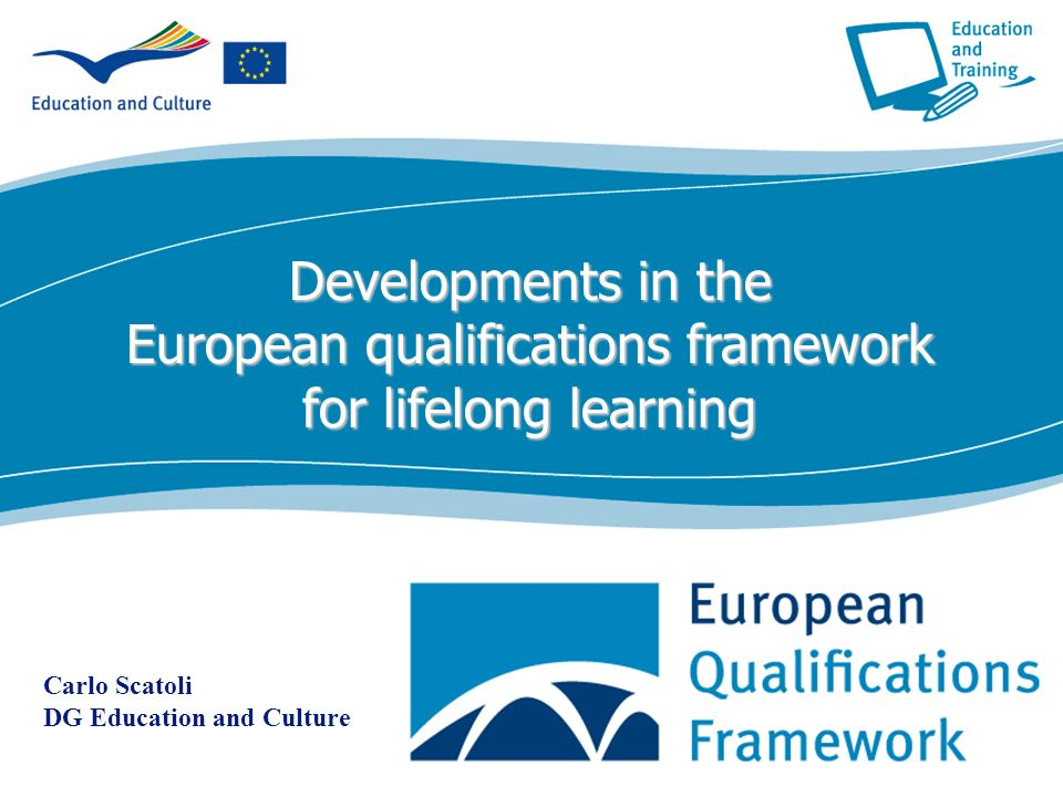 Developments in the European qualifications framework for lifelong learning