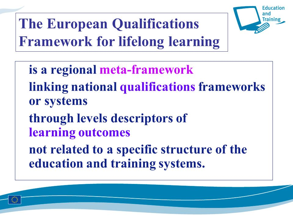 The European Qualifications Framework for lifelong learning
