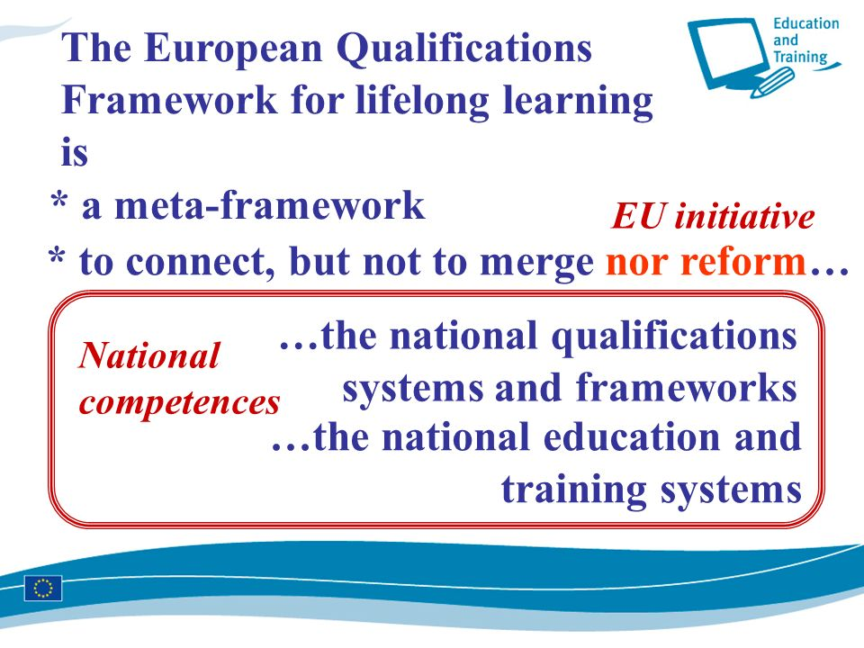 The European Qualifications Framework for lifelong learning is
