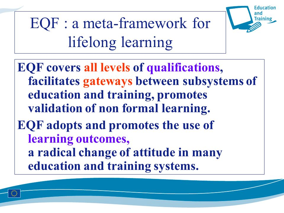 EQF : a meta-framework for lifelong learning