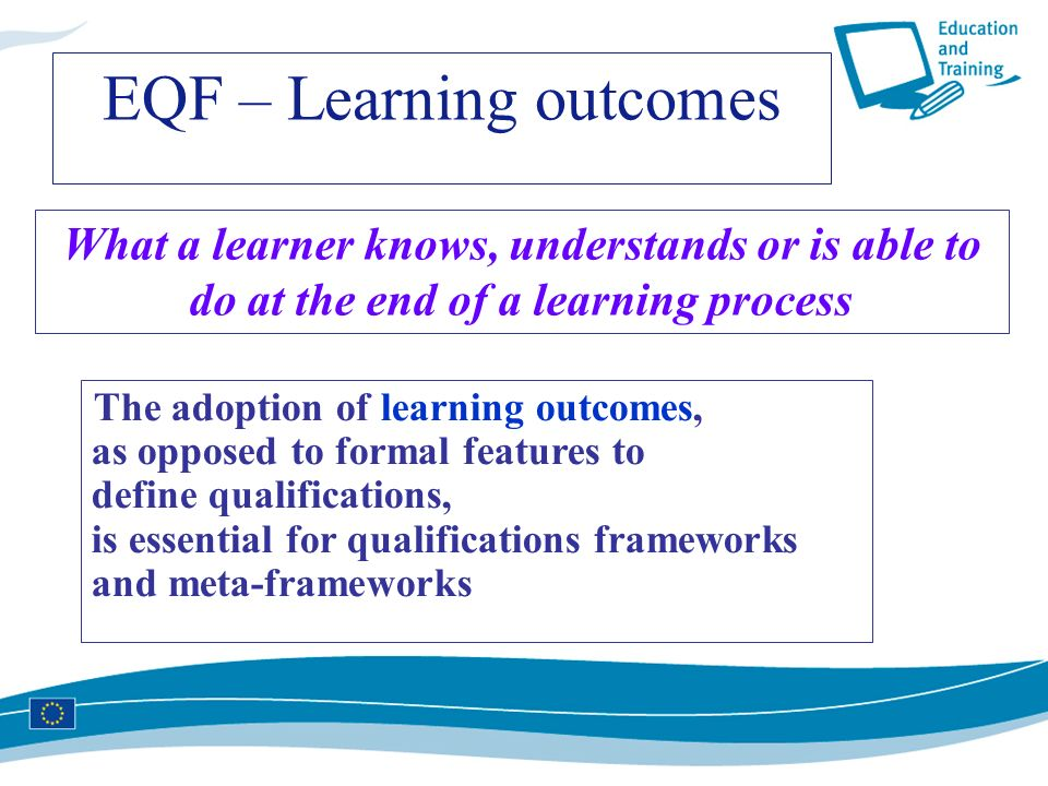 EQF – Learning outcomes