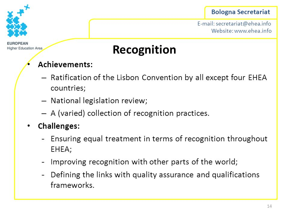 Recognition Achievements:
