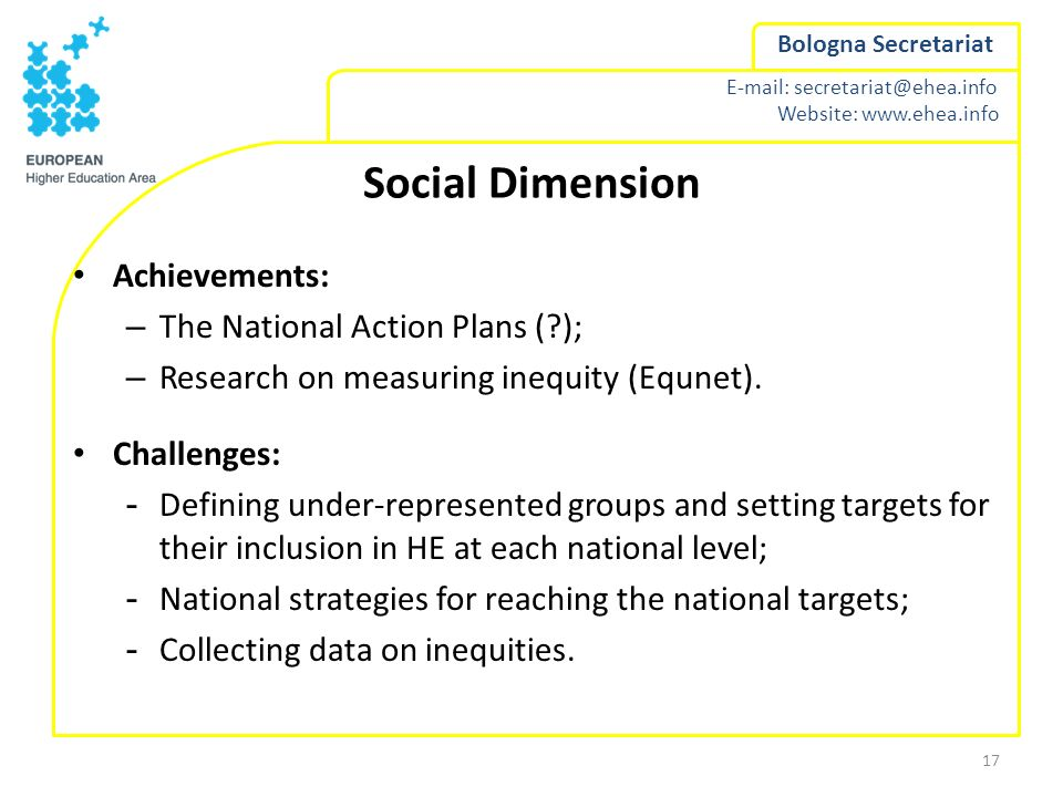 Social Dimension Achievements: The National Action Plans ( );