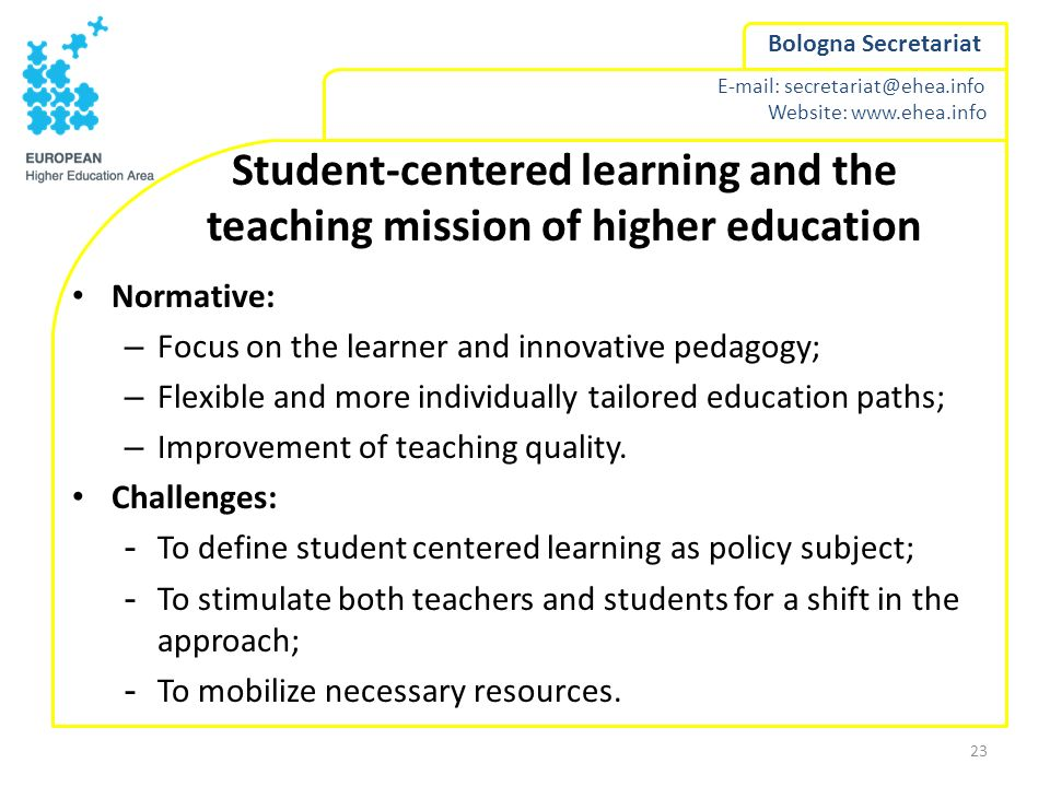 Student-centered learning and the teaching mission of higher education