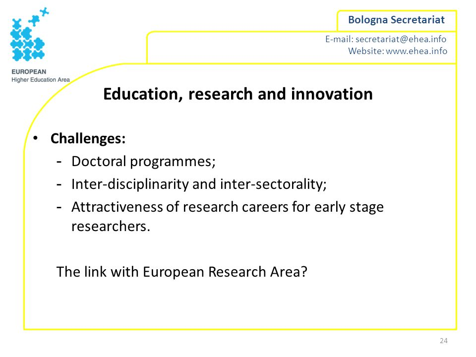 Education, research and innovation