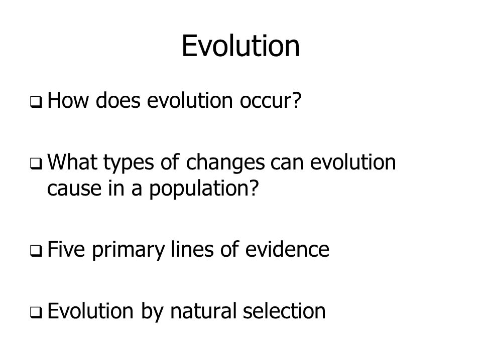 lines of evidence in evolution The imperfection of structures is evidence for evolution and against  antievolutionist  the most important line of investigation after 1950 was the  application of.