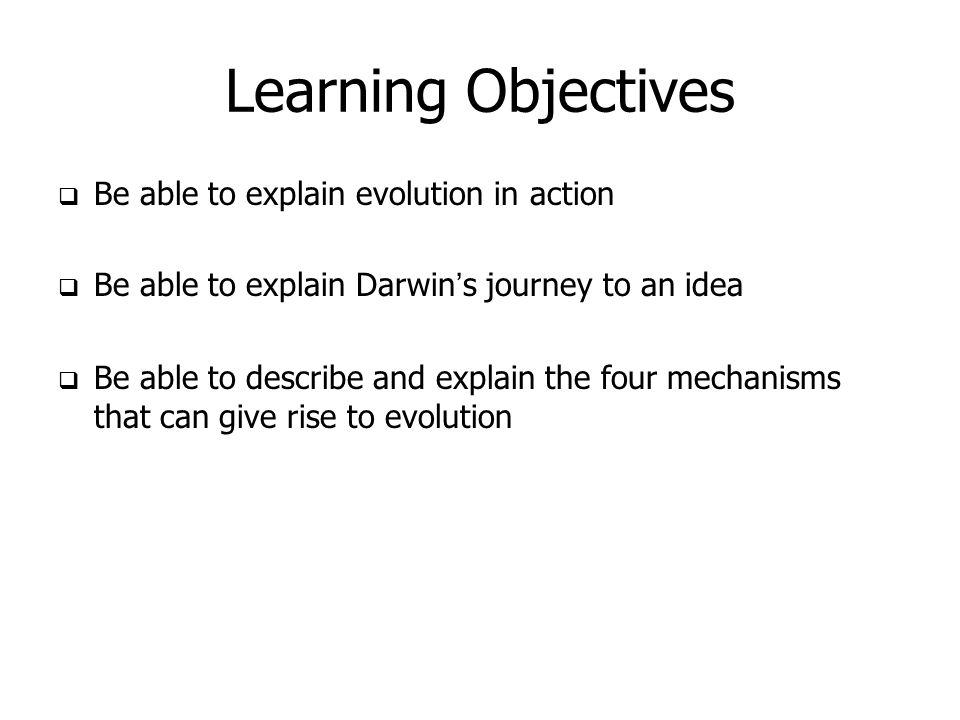 Explain Evolution Through Natural Selection