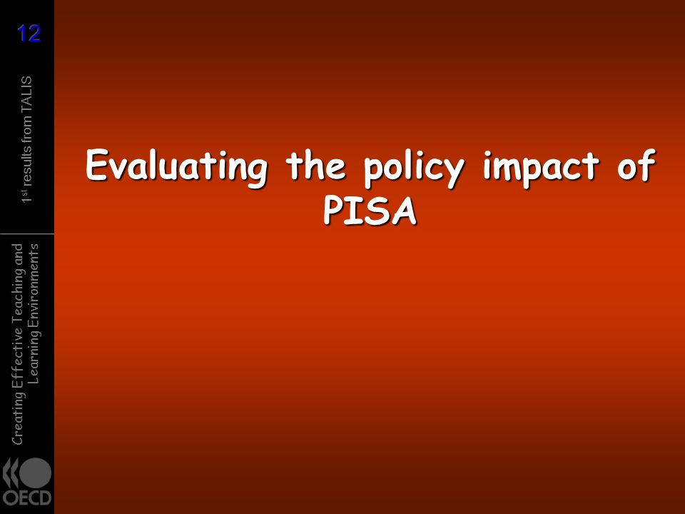 Evaluating the policy impact of PISA