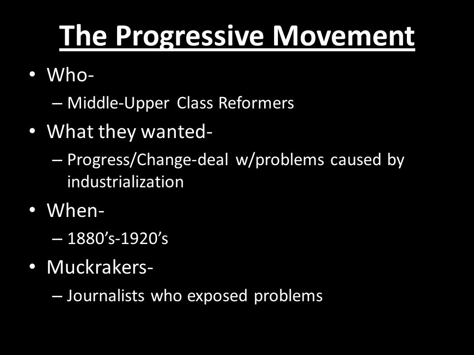 the progressive movement ppt  the progressive movement