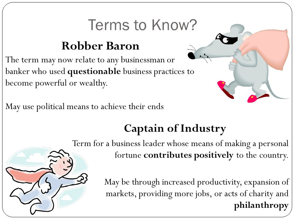 Robber Baron/Captain of Industry debate and essay