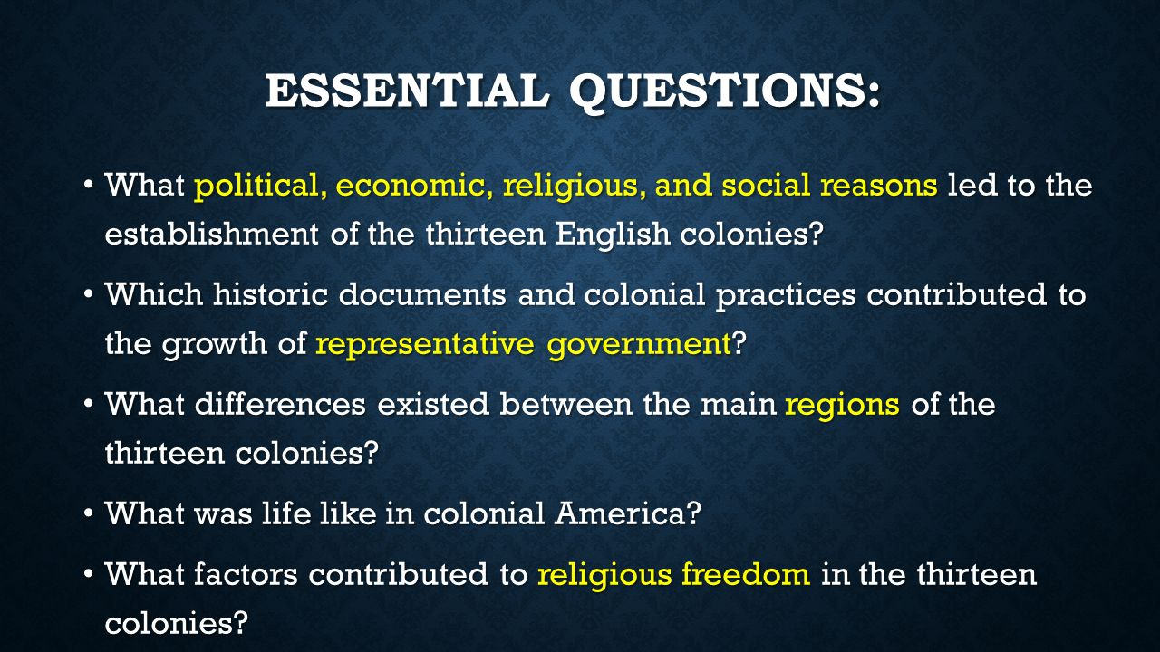 factors that led to american colonization essay European colonization essay for later  portugal became the first to engage in colonization, and led to the rest of europe following and competing for power.