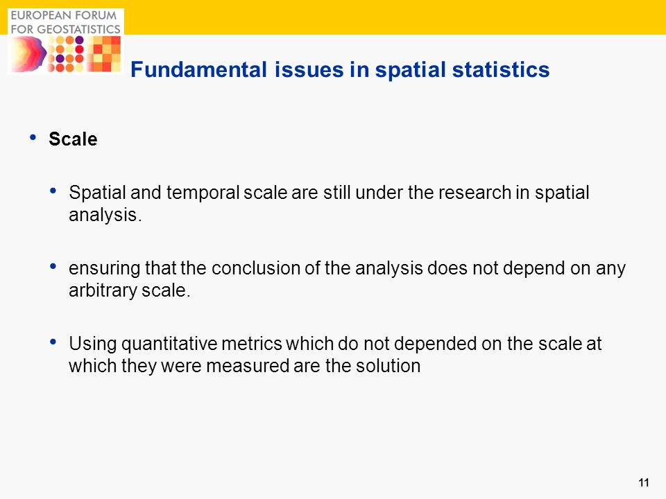 Fundamental issues in spatial statistics