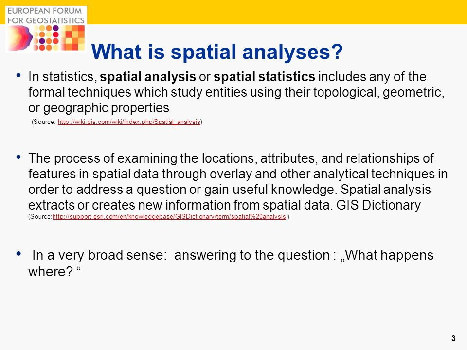 What is spatial analyses