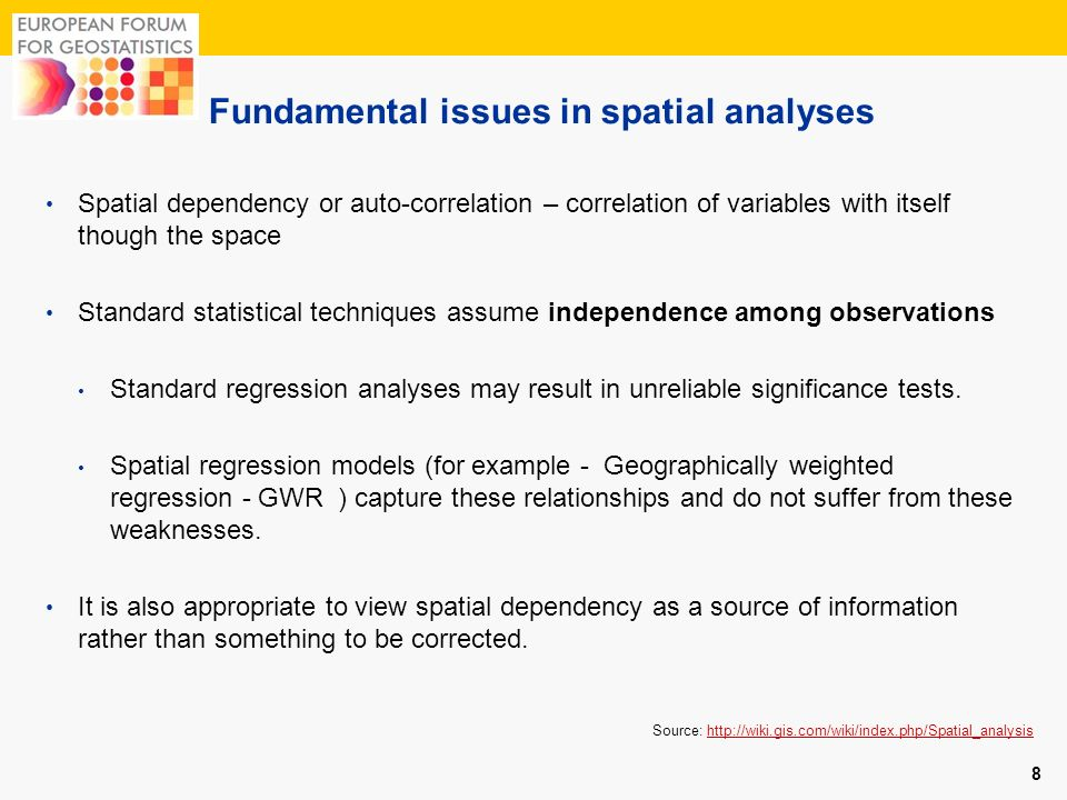 Fundamental issues in spatial analyses