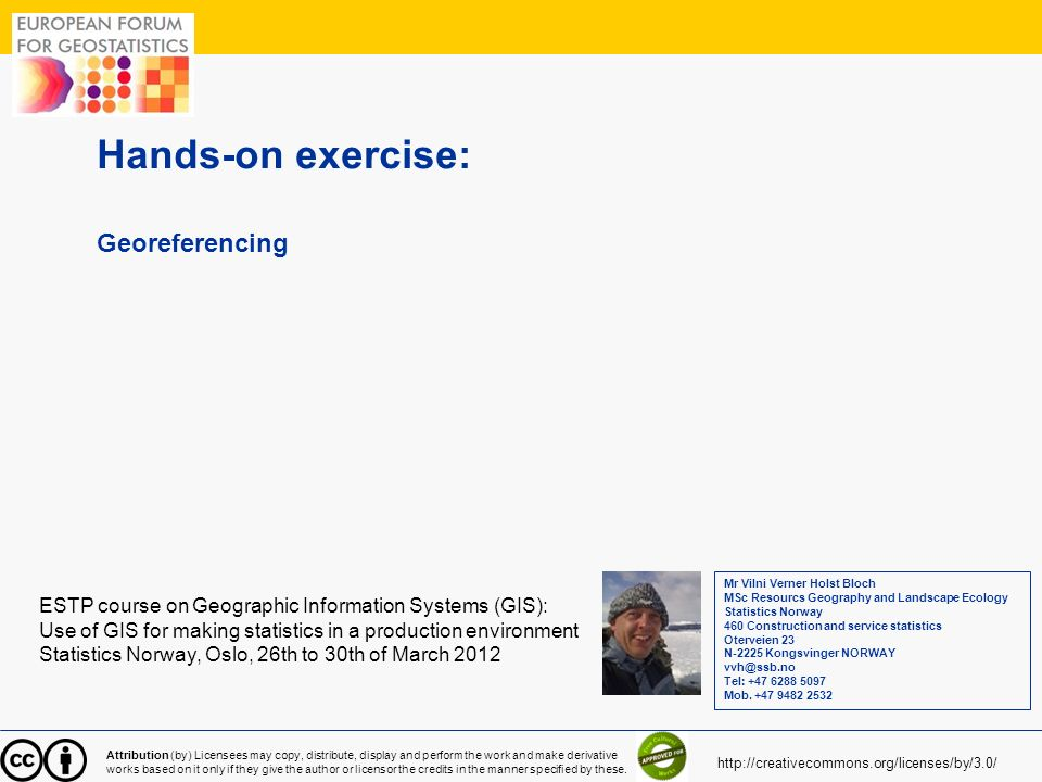 Hands-on exercise: Georeferencing