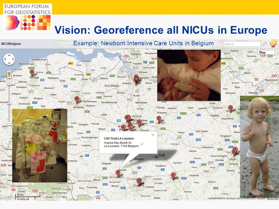 Vision: Georeference all NICUs in Europe