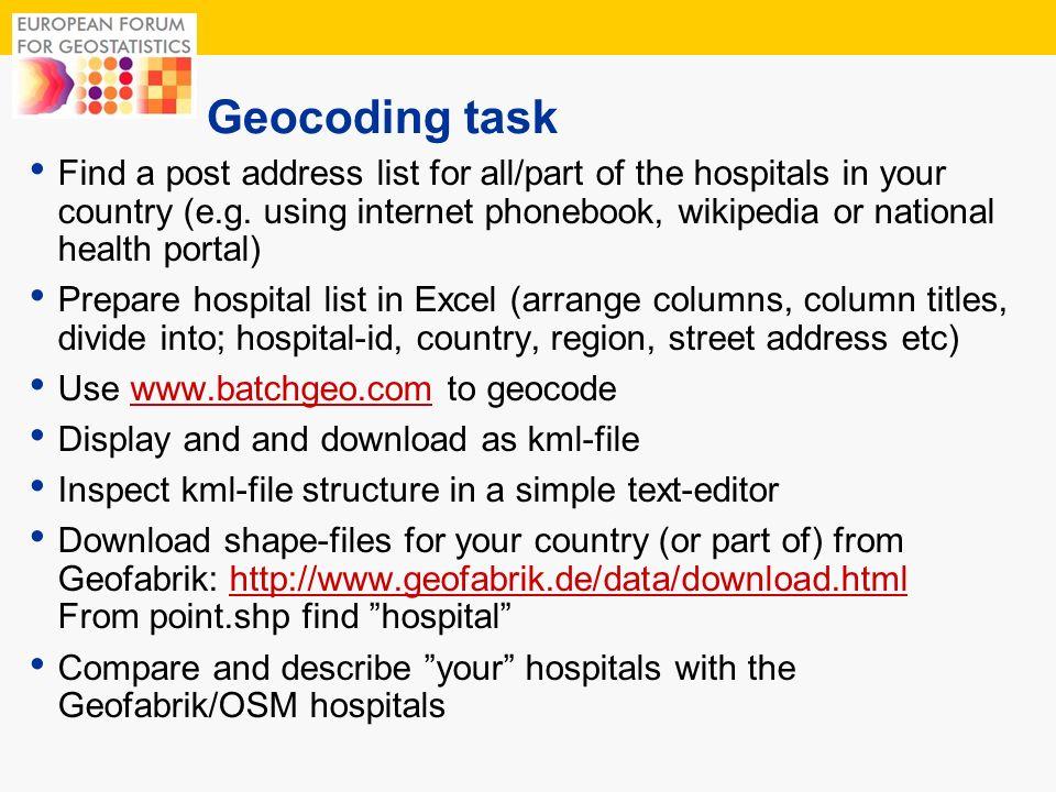 Geocoding task