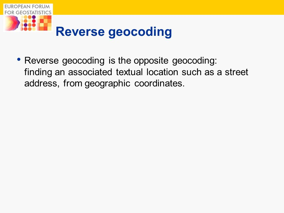 Reverse geocoding