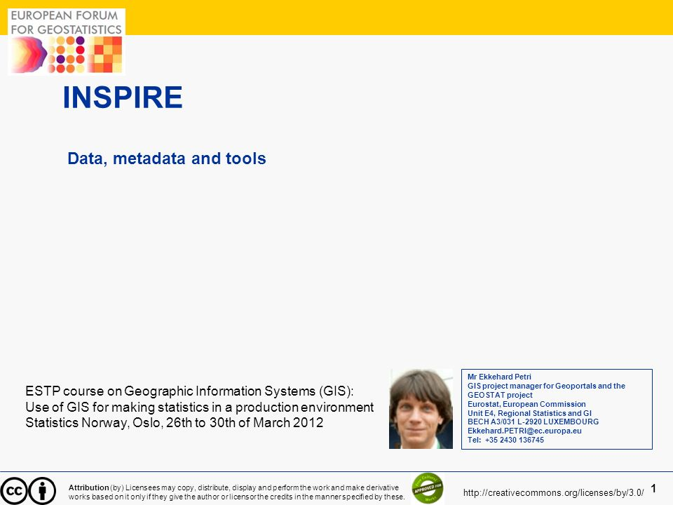 INSPIRE Data, metadata and tools