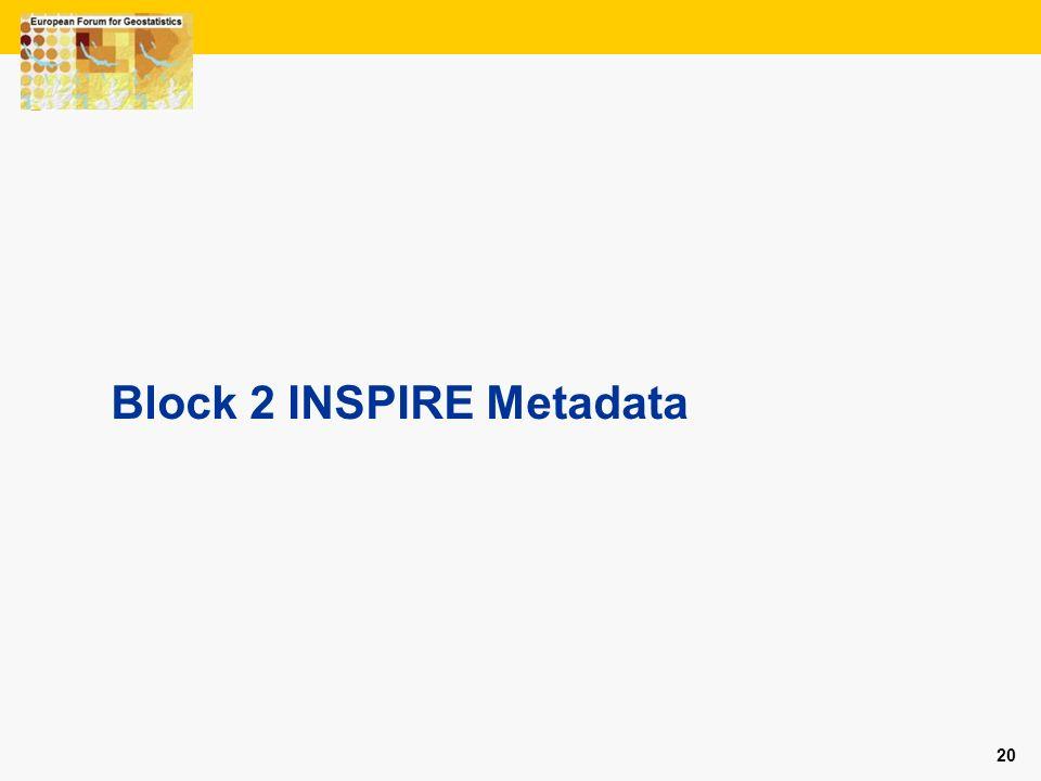 Block 2 INSPIRE Metadata