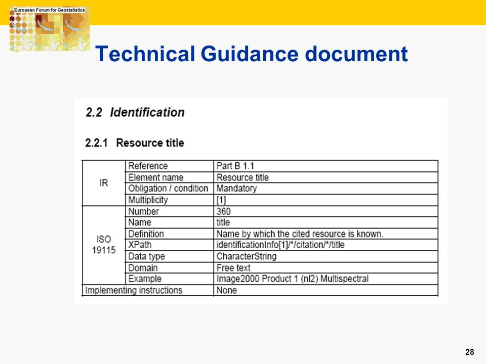 Technical Guidance document