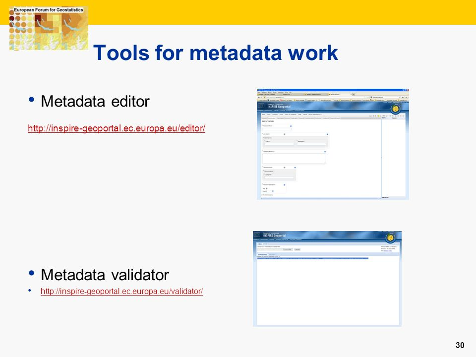 Tools for metadata work