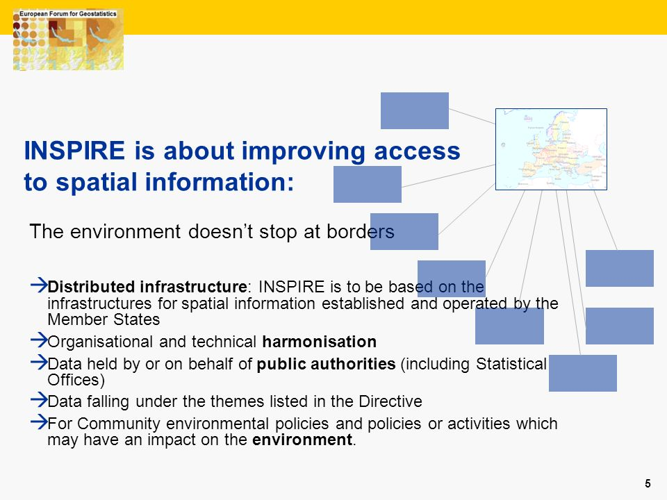 INSPIRE is about improving access to spatial information: