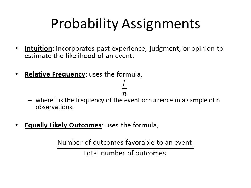 probability theory and ans