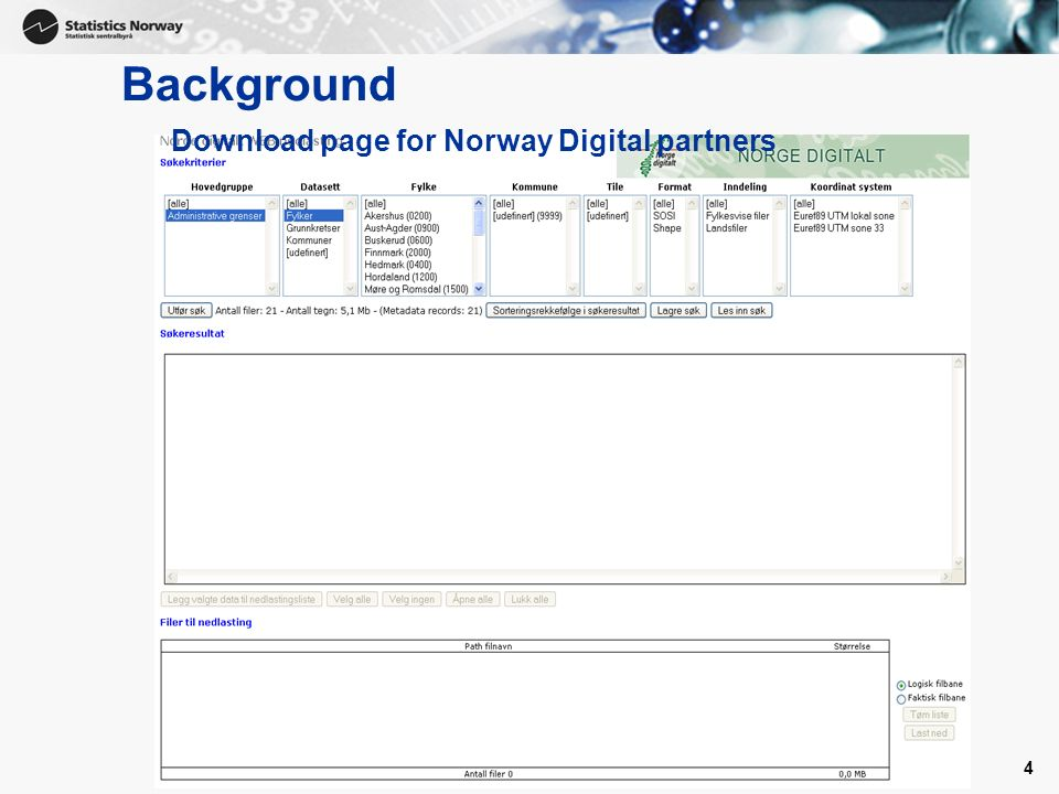 Background Download page for Norway Digital partners