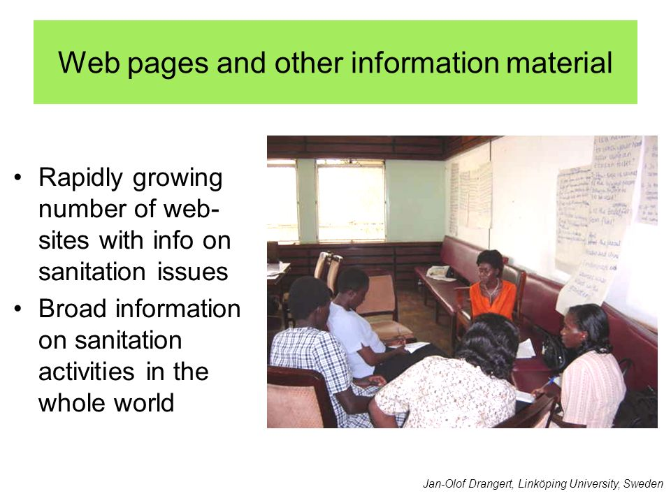 Web pages and other information material