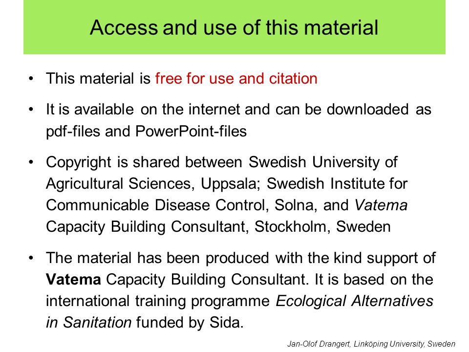 Access and use of this material