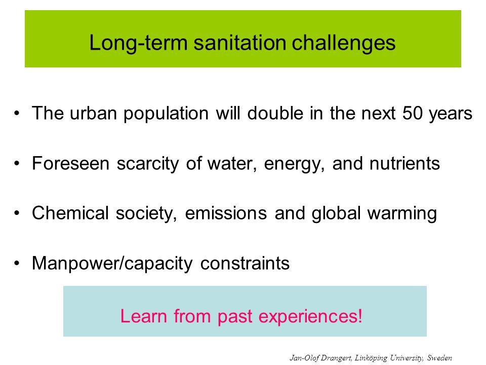 Long-term sanitation challenges