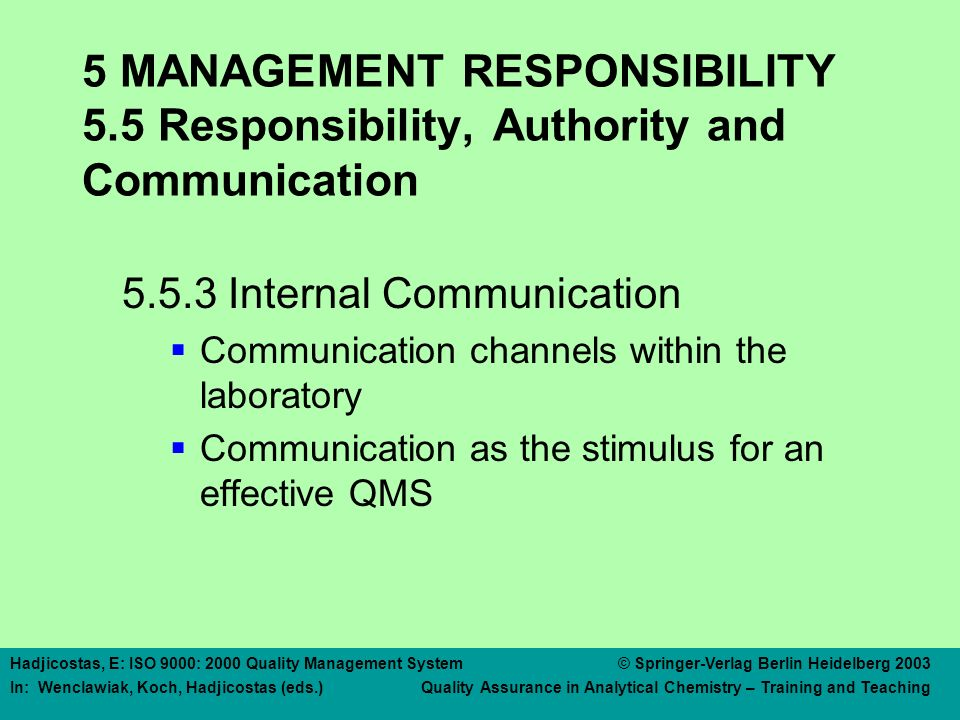 5 MANAGEMENT RESPONSIBILITY 5.6 Management Review