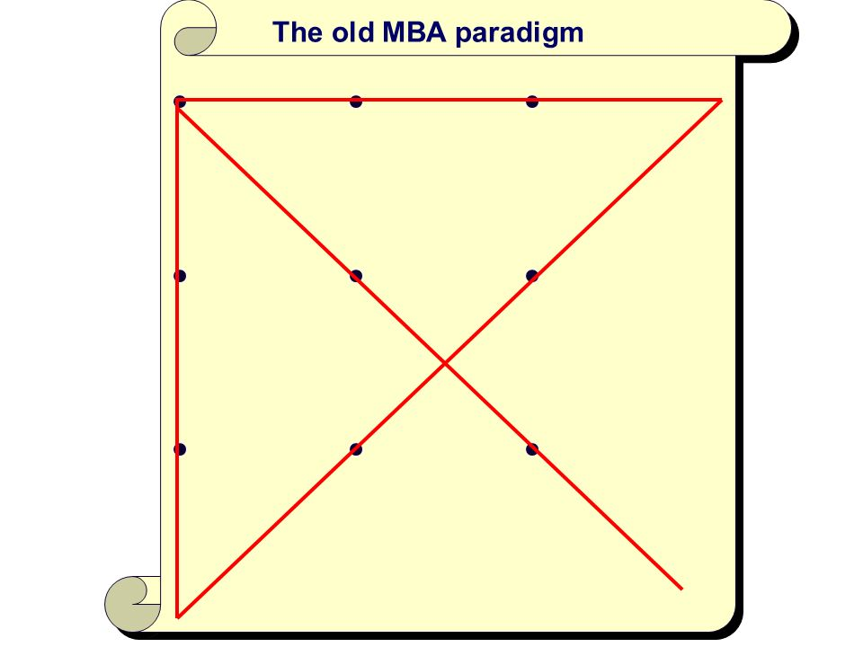 The old MBA paradigm