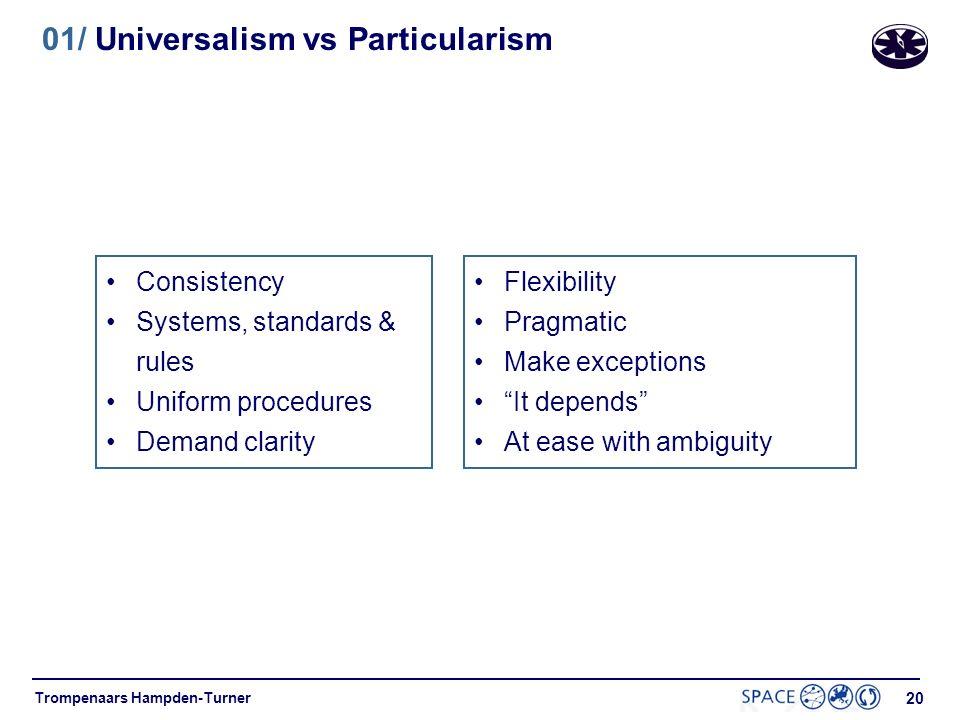 01/ Universalism vs Particularism