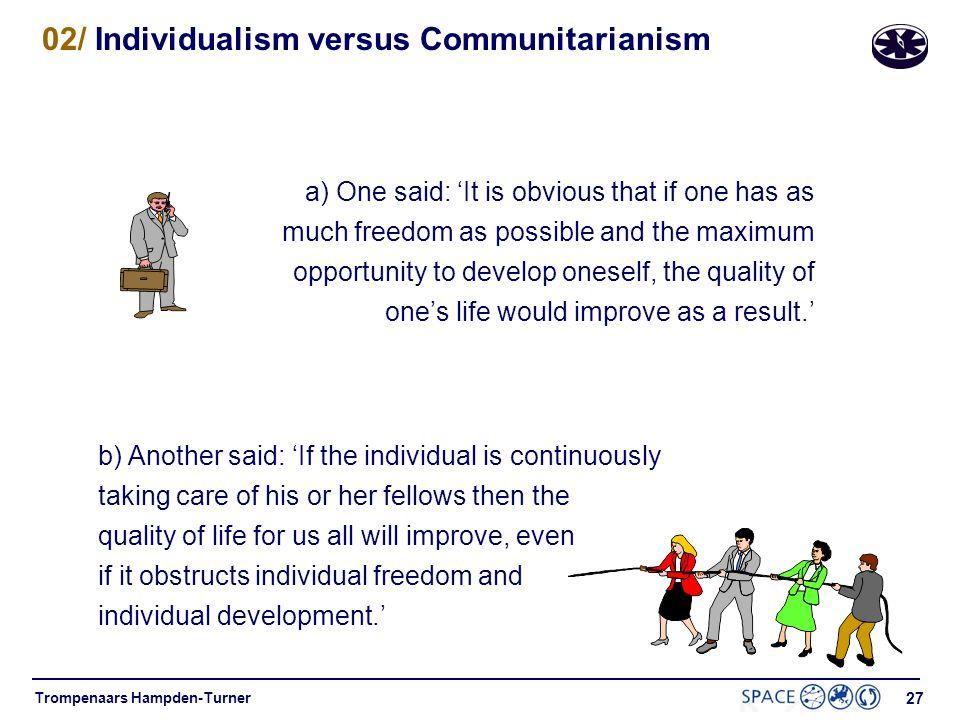 02/ Individualism versus Communitarianism