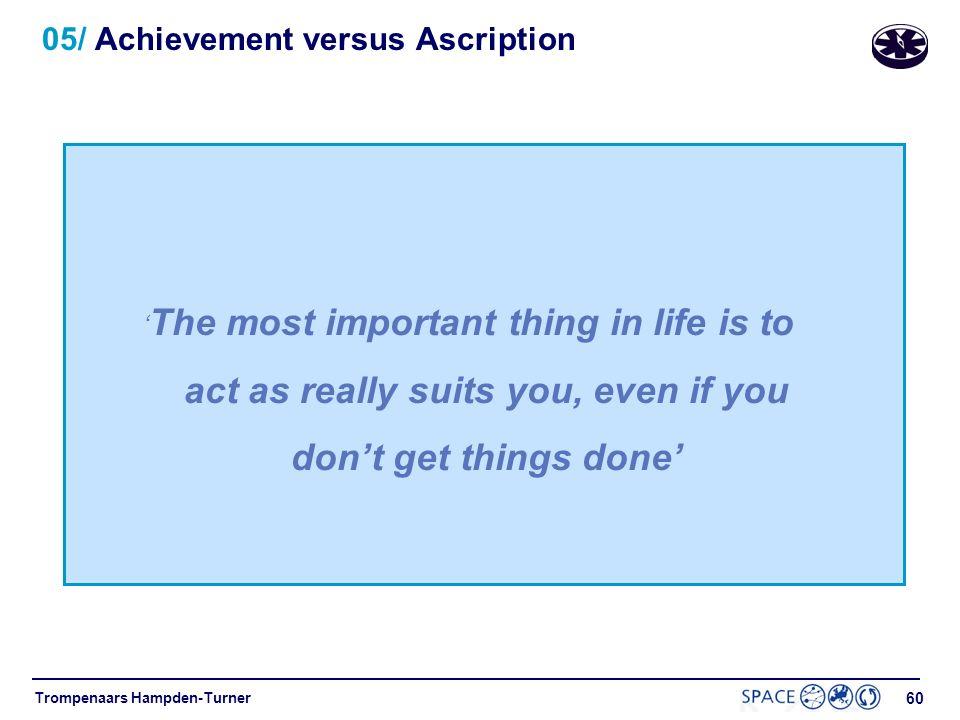 05/ Achievement versus Ascription