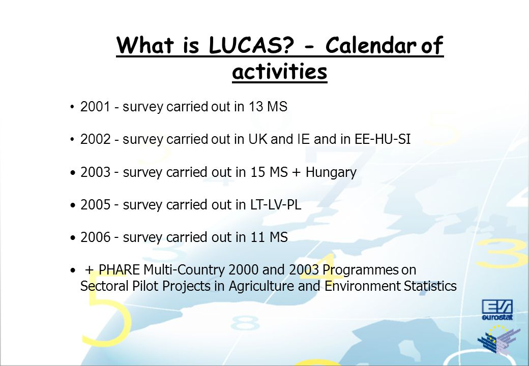 What is LUCAS An area frame survey: Objectives
