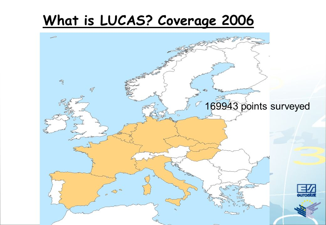 What is LUCAS Coverage 2001 88030 points surveyed