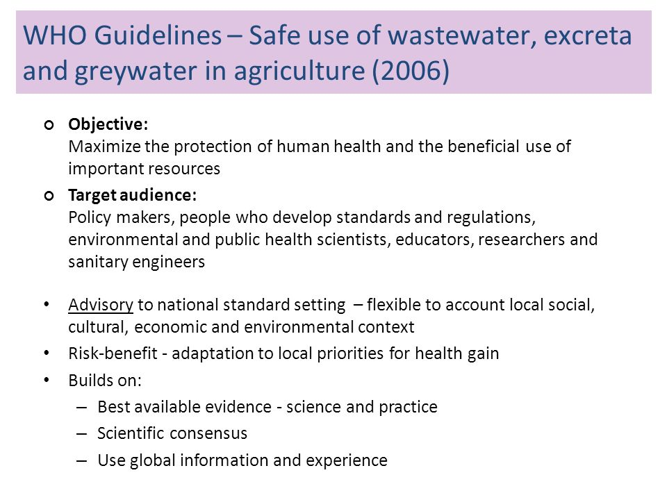 WHO Guidelines on sanitation