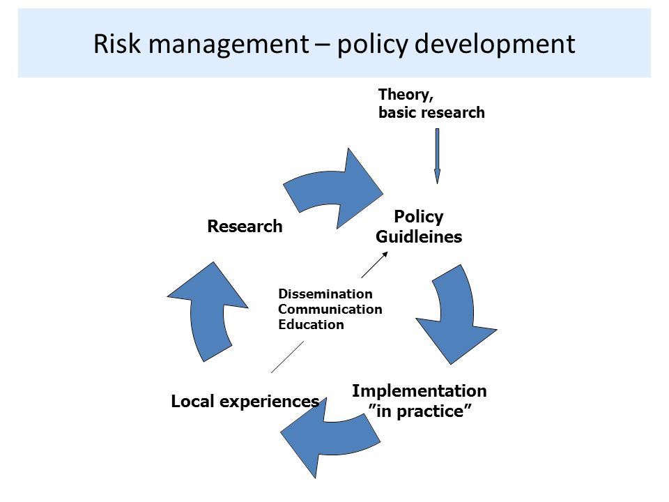 Risk management – policy development
