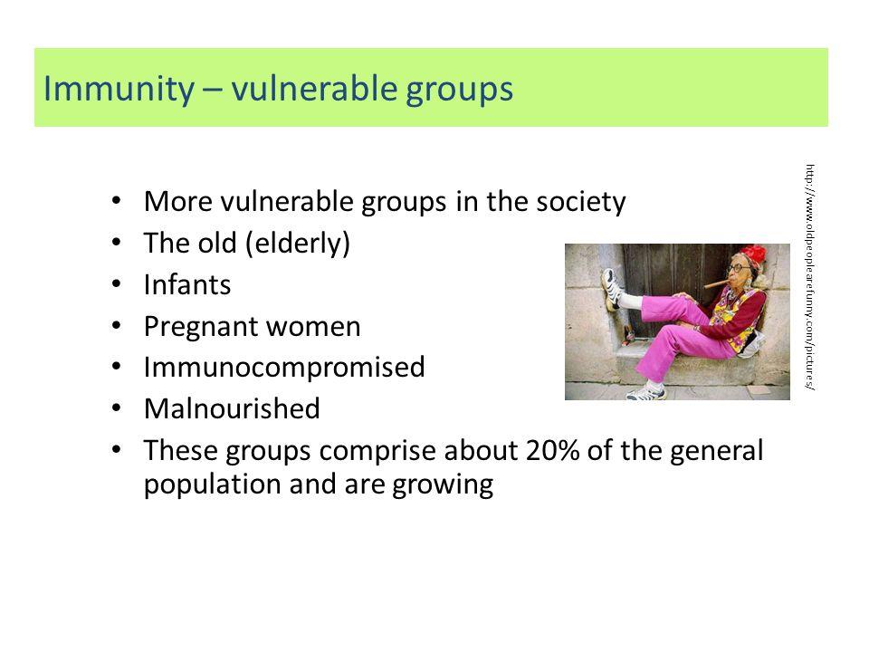 Immunity – vulnerable groups