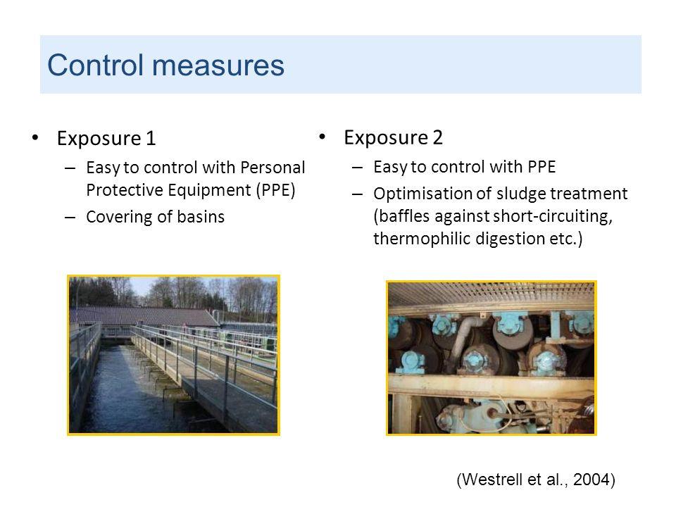 Control measures Exposure 1 Exposure 2