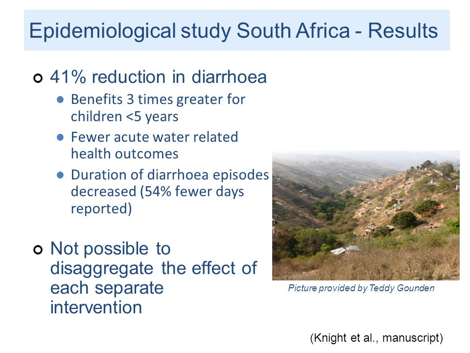 Epidemiological study South Africa - Results