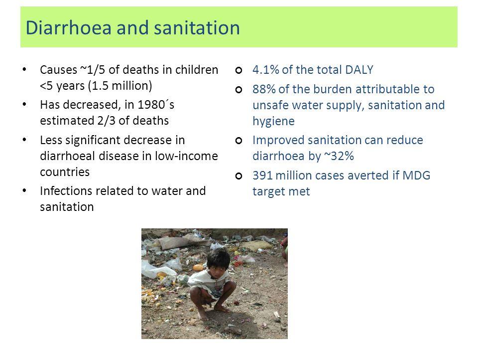 Diarrhoea and sanitation